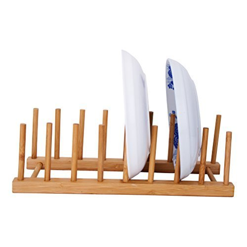 égouttoir vaisselle en bois de bambou minimaliste