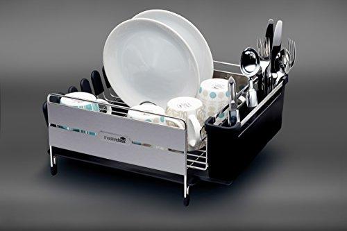 Kitchencraft Masterclass Grande Deluxe en acier inoxydable Égouttoir, 44.5 x 32 x 19.5 cm, égouttoir anti rouille