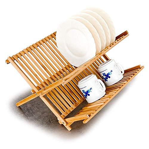 égouttoir vaisselle bambou stable et résistant à l'humidité