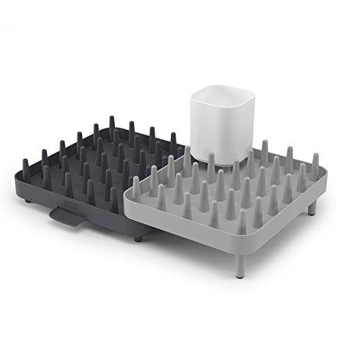 égouttoir à vaisselle Joseph Joseph gris et noir et modulable