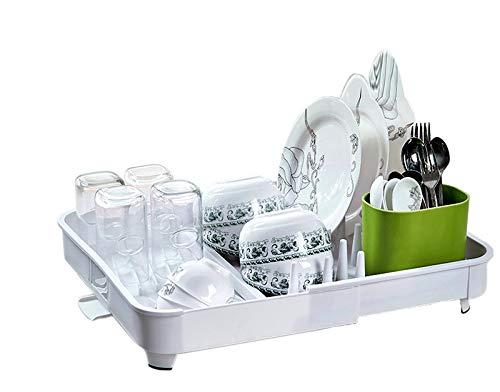 égouttoir à vaisselle en plastique blanc solide,Improvingss, extensible et vraiment bien conceptualisé.
