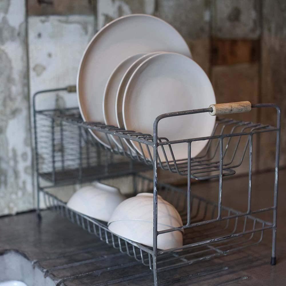 Egouttoir vaisselle look industriel vintage