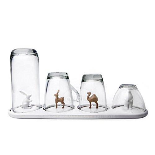 égouttoir à verres animaux